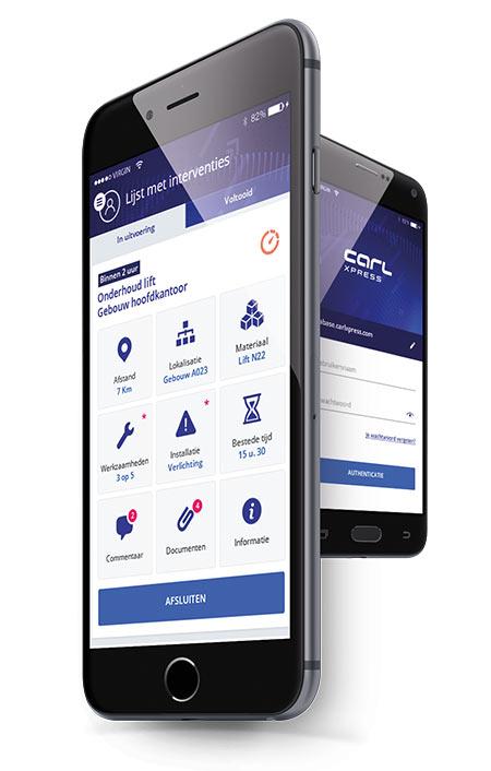 CARL Xpress: Mobiele applicatie voor interventieverslagen Express